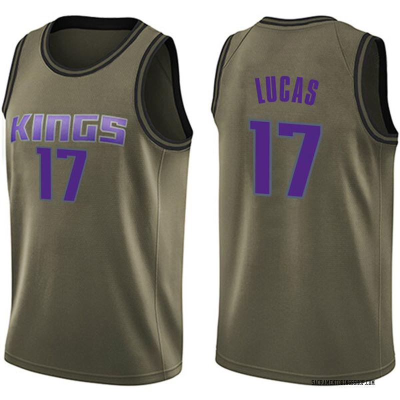 Nike Sacramento Kings Swingman Green Kalin Lucas Salute to Service Jersey - Youth