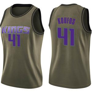 Nike Sacramento Kings Swingman Green Kosta Koufos Salute to Service Jersey - Women's
