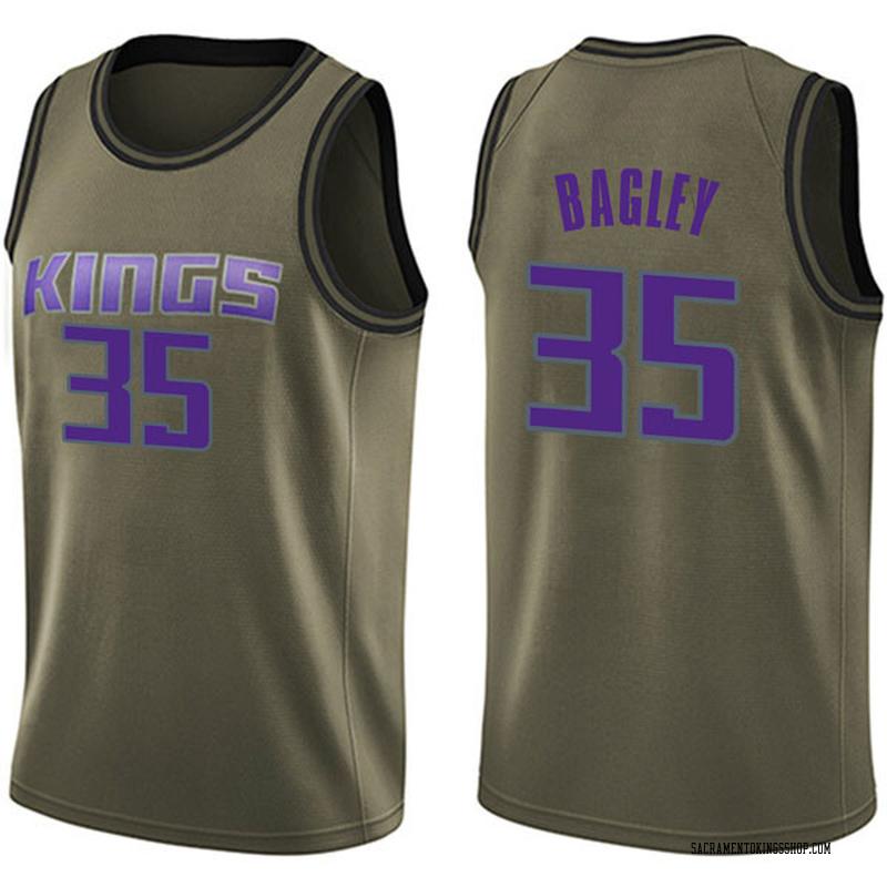 Nike Sacramento Kings Swingman Green Marvin Bagley III Salute to Service Jersey - Men's
