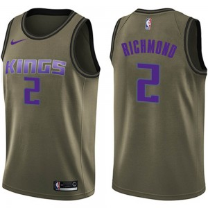 Nike Sacramento Kings Swingman Green Mitch Richmond Salute to Service Jersey - Men's