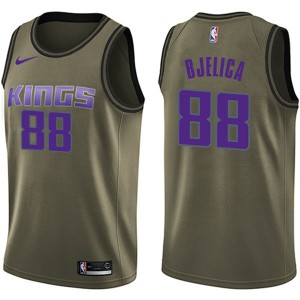 Nike Sacramento Kings Swingman Green Nemanja Bjelica Salute to Service Jersey - Youth