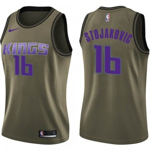 Nike Sacramento Kings Swingman Green Peja Stojakovic Salute to Service Jersey - Women's