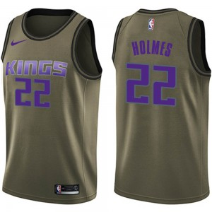 Nike Sacramento Kings Swingman Green Richaun Holmes Salute to Service Jersey - Youth