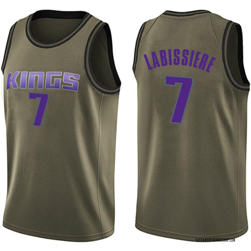 Nike Sacramento Kings Swingman Green Skal Labissiere Salute to Service Jersey - Men's
