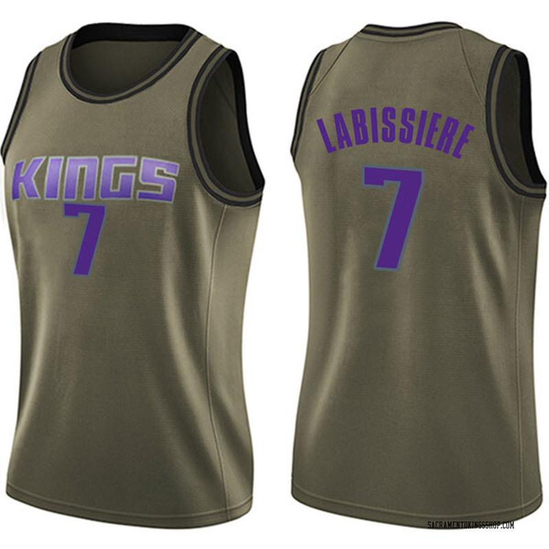 Nike Sacramento Kings Swingman Green Skal Labissiere Salute to Service Jersey - Women's