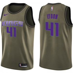 Nike Sacramento Kings Swingman Green Tyler Lydon Salute to Service Jersey - Youth
