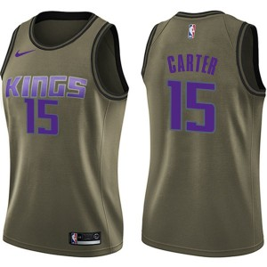 Nike Sacramento Kings Swingman Green Vince Carter Salute to Service Jersey - Women's