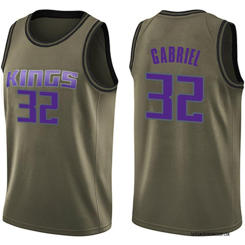 Nike Sacramento Kings Swingman Green Wenyen Gabriel Salute to Service Jersey - Men's