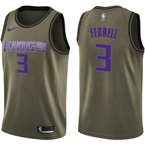 Nike Sacramento Kings Swingman Green Yogi Ferrell Salute to Service Jersey - Youth