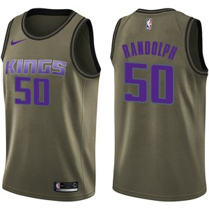 Nike Sacramento Kings Swingman Green Zach Randolph Salute to Service Jersey - Men's