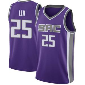 Nike Sacramento Kings Swingman Purple Alex Len Jersey - Icon Edition - Men's