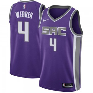 Nike Sacramento Kings Swingman Purple Chris Webber Jersey - Icon Edition - Youth