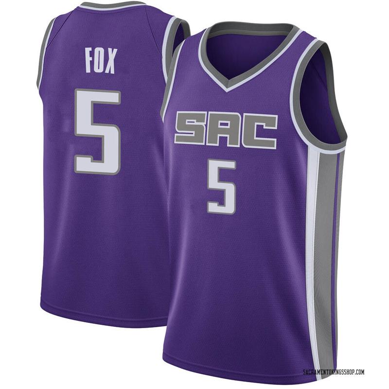 Nike Sacramento Kings Swingman Purple Deaaron Fox Jersey - Icon Edition - Youth