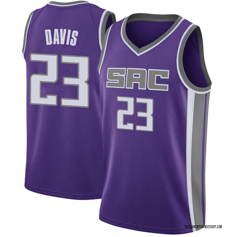 Nike Sacramento Kings Swingman Purple Deyonta Davis Jersey - Icon Edition - Men's