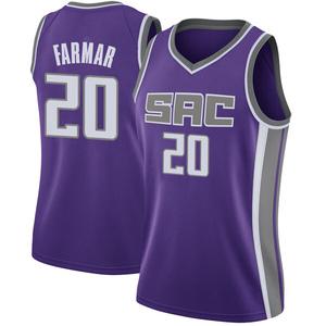Nike Sacramento Kings Swingman Purple Jordan Farmar Jersey - Icon Edition - Women's