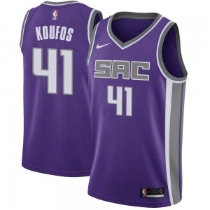 Nike Sacramento Kings Swingman Purple Kosta Koufos Jersey - Icon Edition - Men's