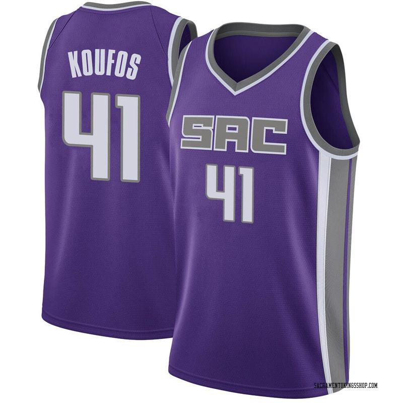Nike Sacramento Kings Swingman Purple Kosta Koufos Jersey - Icon Edition - Men's