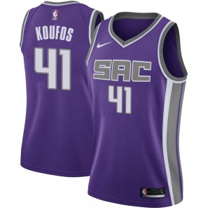 Nike Sacramento Kings Swingman Purple Kosta Koufos Jersey - Icon Edition - Women's