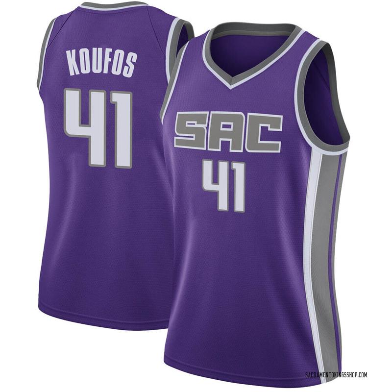 Nike Sacramento Kings Swingman Purple Kosta Koufos Jersey - Icon Edition - Women's