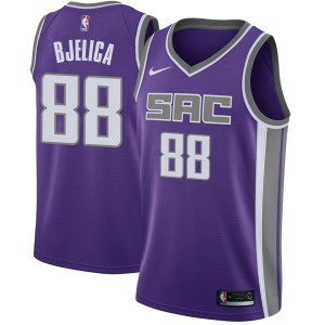 Nike Sacramento Kings Swingman Purple Nemanja Bjelica Jersey - Icon Edition - Men's