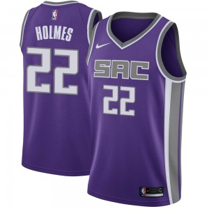 Nike Sacramento Kings Swingman Purple Richaun Holmes Jersey - Icon Edition - Youth