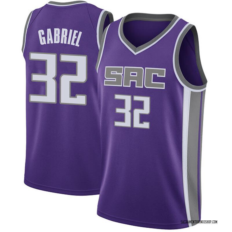 Nike Sacramento Kings Swingman Purple Wenyen Gabriel Jersey - Icon Edition - Youth