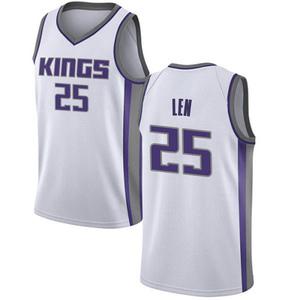 Nike Sacramento Kings Swingman White Alex Len Jersey - Association Edition - Men's