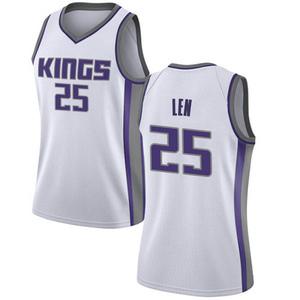 Nike Sacramento Kings Swingman White Alex Len Jersey - Association Edition - Women's