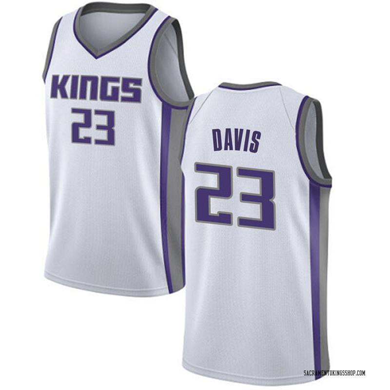 Nike Sacramento Kings Swingman White Deyonta Davis Jersey - Association Edition - Men's