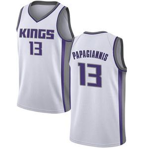 Nike Sacramento Kings Swingman White Georgios Papagiannis Jersey - Association Edition - Men's