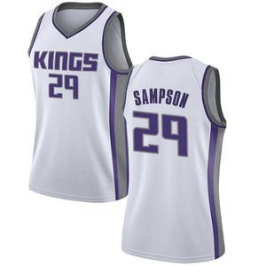 Nike Sacramento Kings Swingman White Jakarr Sampson Jersey - Association Edition - Women's