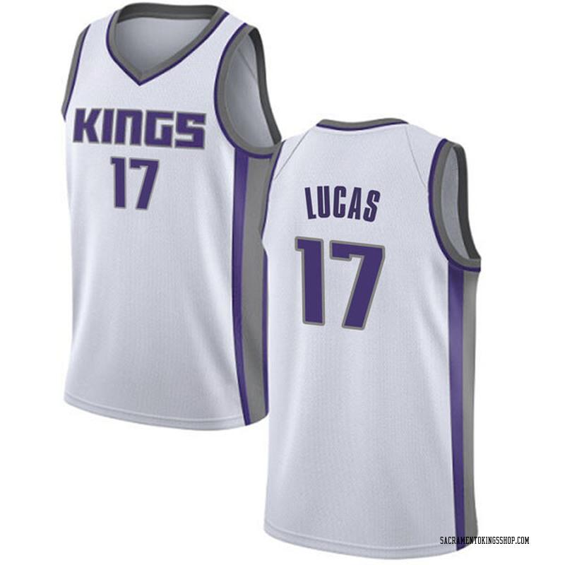 Nike Sacramento Kings Swingman White Kalin Lucas Jersey - Association Edition - Men's