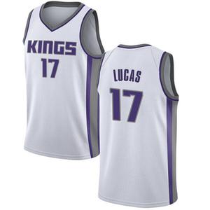 Nike Sacramento Kings Swingman White Kalin Lucas Jersey - Association Edition - Youth