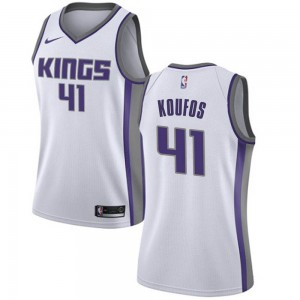 Nike Sacramento Kings Swingman White Kosta Koufos Jersey - Association Edition - Women's