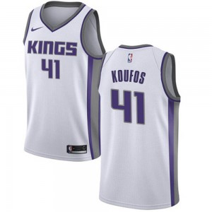 Nike Sacramento Kings Swingman White Kosta Koufos Jersey - Association Edition - Youth