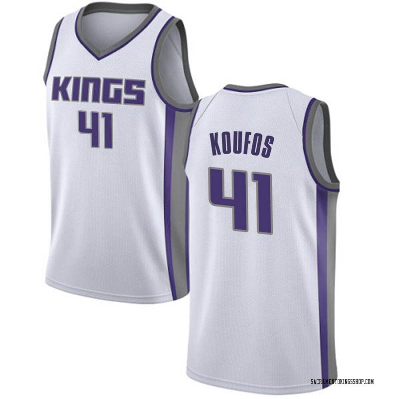 Nike Sacramento Kings Swingman White Kosta Koufos Jersey - Association Edition - Youth
