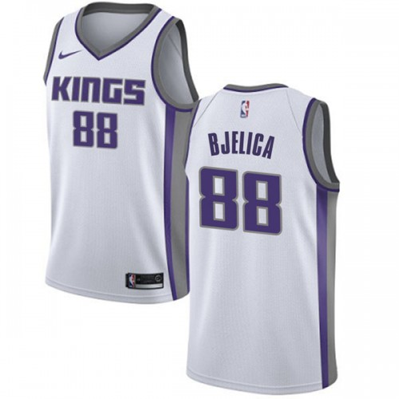 Nike Sacramento Kings Swingman White Nemanja Bjelica Jersey - Association Edition - Men's