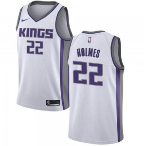 Nike Sacramento Kings Swingman White Richaun Holmes Jersey - Association Edition - Youth