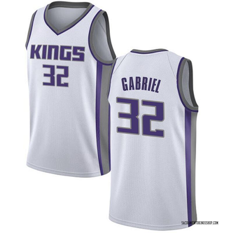 Nike Sacramento Kings Swingman White Wenyen Gabriel Jersey - Association Edition - Youth