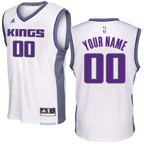 Adidas sacramento kings authentic white custom ized home for Custom t shirts sacramento